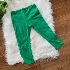 Athleta Green Cropped Legging Pant Small Athletic